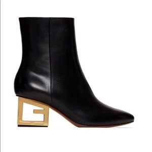 Givenchy Black Triangle G Boots